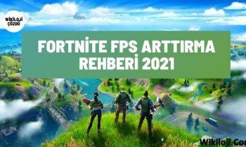 Fortnite FPS Arttırma Rehberi 2021