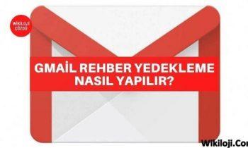 Gmail Rehber Yedekleme Nasıl Yapılır ?