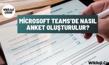 Microsoft Teams'de Nasıl Anket Oluşturulur?