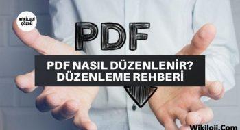Pdf Nasıl Düzenlenir? 3 Pdf Düzenleme Programı
