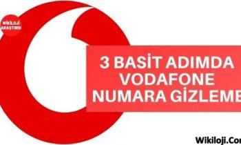 3 Basit Adımda Vodafone Numara Gizleme