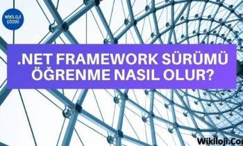 .NET Framework Sürümü Öğrenme Nasıl Yapılır?