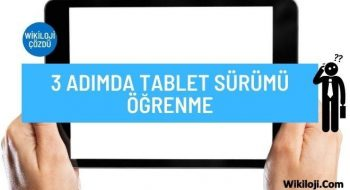 3 Adımda Tablet Sürümü Öğrenme