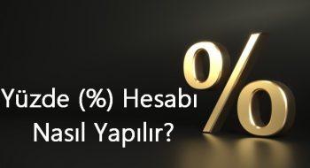 Yüzde (%) Hesabı Nasıl Yapılır?