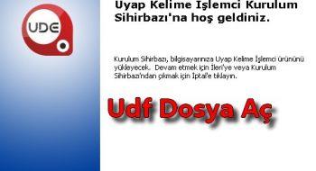 UDF Dosyaları Nasıl Açılır? .UDF Uzantısı Açma